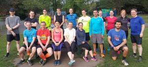 putney bootcamp team photo in wandsworth park